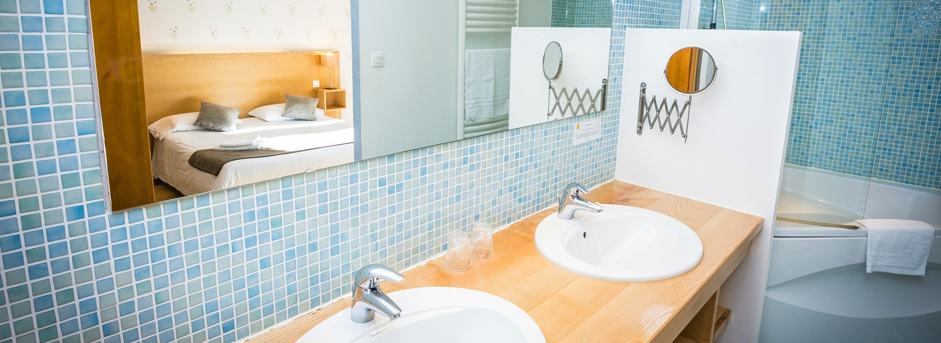 Salle de bain hôtel le Chalet