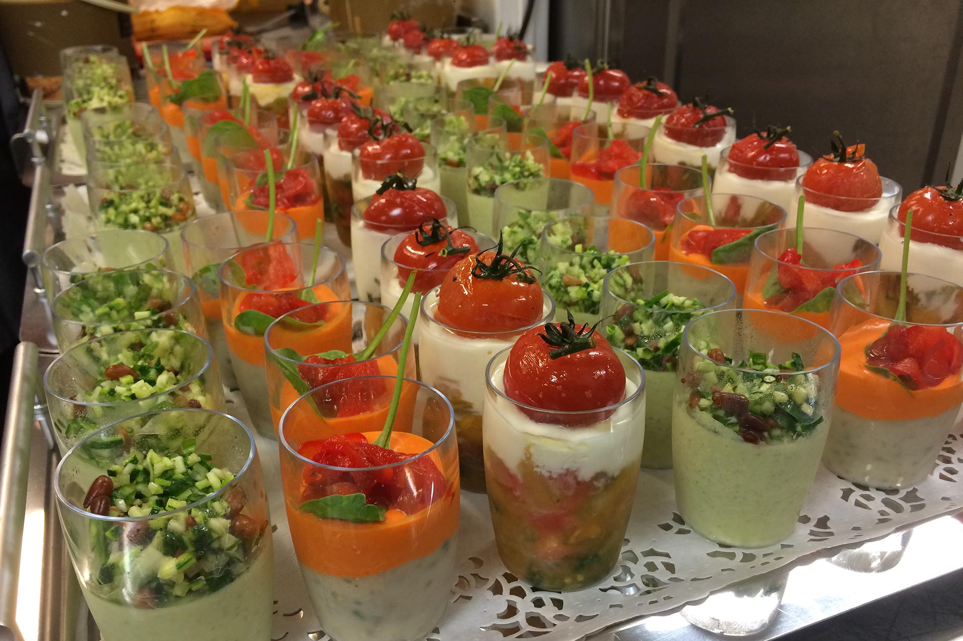 Entrées Repas livré chez client août 2015 Restaurant Le Chalet Ax les Thermes Ariege.JPG
